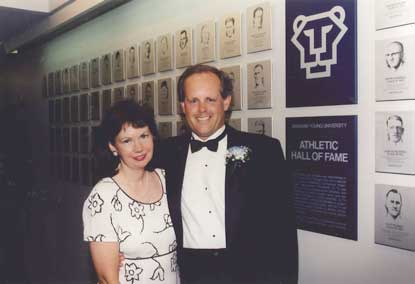 JohnFought & Wife - BYU Hall of fame